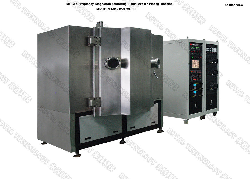 Matte Black PVD  Vacuum Coating Machine , Brass alloy, Zinc Alloy door handle PVD Coating Machine